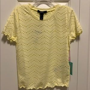 Forever21 Light Yellow top